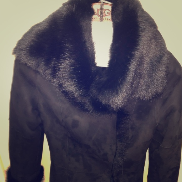 948274a39a ugg womens jacket XS VANESA TOSCANA SHEARLING COAT